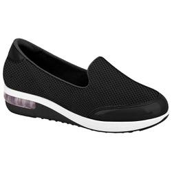 Tênis c/ Amortecedor para Esporão e Fascite - Preto - MO7320-201PT - Pé Relax Sapatos Confortáveis