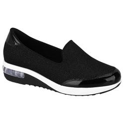 Tênis c/ Amortecedor para Esporão e Fascite - Preto Brilho - MO732020120970PT - Pé Relax Sapatos Confortáveis
