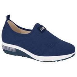 Tênis c/ Amortecedor para Esporão e Fascite - Azul - MO7320-217AZ - Pé Relax Sapatos Confortáveis