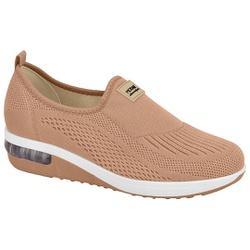 Tênis c/ Amortecedor para Esporão e Fascite - Bege - MO7320-217BG - Pé Relax Sapatos Confortáveis