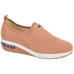 Tênis c/ Amortecedor para Esporão e Fascite - Bege - MO7320217BG - Pé Relax Sapatos Confortáveis