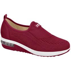 Tênis c/ Amortecedor para Esporão e Fascite - Vinho - MO7320-217VI - Pé Relax Sapatos Confortáveis