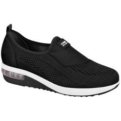 Tênis c/ Amortecedor para Esporão e Fascite - Preto - MO7320-217PT - Pé Relax Sapatos Confortáveis