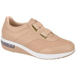 Tênis c/ Amortecedor e Elástico para Esporão e Fascite - Bege - MO7320231BG - Pé Relax Sapatos Confortáveis