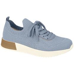 Tênis Feminino para Esporão e Fascite Plantar - Super Leve Jeans - MO7345-114JE - Pé Relax Sapatos Confortáveis