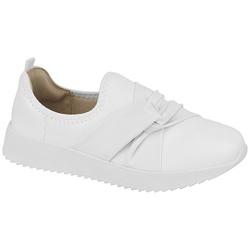 Tênis Feminino para Esporão e Fascite Plantar - Super Leve Branco - MO7345-217BR - Pé Relax Sapatos Confortáveis