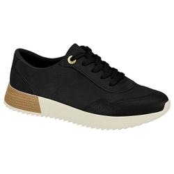 Tênis Feminino para Esporão e Fascite Plantar - Super Leve Preto - MO7345-106PT - Pé Relax Sapatos Confortáveis