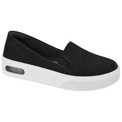 Slip On Feminino com Amortecedores - Preto - MO7350-101PT - Pé Relax Sapatos Confortáveis