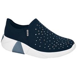 Tênis para Esporão e Fascite com Strass - Marinho - MO7354102MA - Pé Relax Sapatos Confortáveis