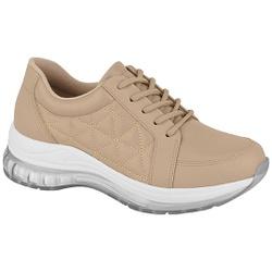 Tênis para Esporão e Fascite c/ Cápsula de Ar - Bege - MO7355-105BE - Pé Relax Sapatos Confortáveis