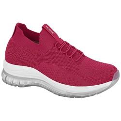 Tênis para Esporão e Fascite em Tecido Knit c/ Cápsula de Ar - Cereja - MO7355-103CE - Pé Relax Sapatos Confortáveis