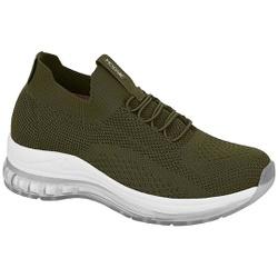 Tênis para Esporão e Fascite em Tecido Knit c/ Cápsula de Ar - Oliva - MO7355-103OL - Pé Relax Sapatos Confortáveis