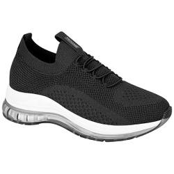 Tênis para Esporão e Fascite em Tecido Knit c/ Cápsula de Ar - Preto - MO7355-103PT - Pé Relax Sapatos Confortáveis