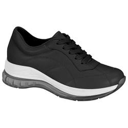 Tênis para Esporão e Fascite c/ Cápsula de Ar - Preto - MO7355-111PT - Pé Relax Sapatos Confortáveis