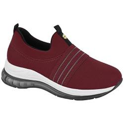 Tênis para Esporão e Fascite c/ Cápsula de Ar - Vinho - MO7355-104VI - Pé Relax Sapatos Confortáveis