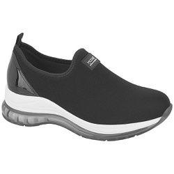 Tênis para Esporão e Fascite c/ Cápsula de Ar - Preto - MO7355-101PT - Pé Relax Sapatos Confortáveis
