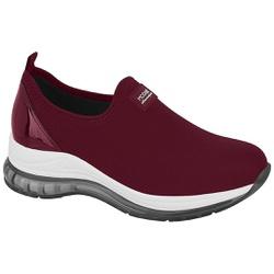 Tênis para Esporão e Fascite c/ Cápsula de Ar - Vinho - MO7355-101VI - Pé Relax Sapatos Confortáveis