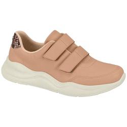 Tênis c/ Velcro para Esporão e Fascite - Bege - MO7362-102BG - Pé Relax Sapatos Confortáveis
