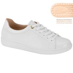 Tênis c/ Palmilha Massageadora para Esporão e Fascite - Branco - MO7363-105BR - Pé Relax Sapatos Confortáveis