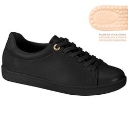 Tênis c/ Palmilha Massageadora para Esporão e Fascite - Preto - MO7363-105PT - Pé Relax Sapatos Confortáveis