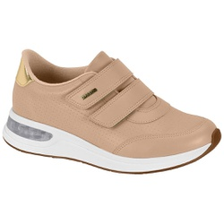 Tênis c/ Amortecedor Gel para Esporão e Fascite - Bege - MO7364-102BG - Pé Relax Sapatos Confortáveis
