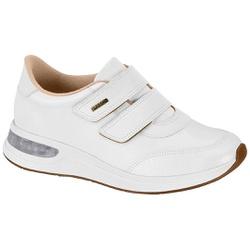 Tênis c/ Amortecedor Gel para Esporão e Fascite - Branco - MO7364-102BR - Pé Relax Sapatos Confortáveis