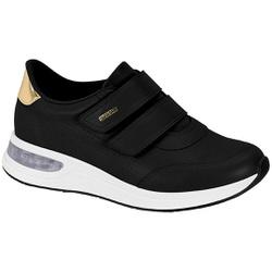 Tênis c/ Amortecedor Gel para Esporão e Fascite - Preto - MO7364-102PT - Pé Relax Sapatos Confortáveis
