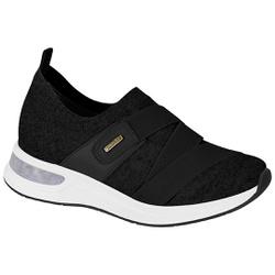 Tênis c/ Amortecedor Gel para Esporão e Fascite - Preto - MO7364-104PT - Pé Relax Sapatos Confortáveis