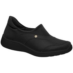 Tênis para Esporão e Fascite - Preto / Sola Preta - PI216011PT - Pé Relax Sapatos Confortáveis