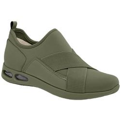 Tênis c/ Amortecedor para Esporão e Fascite - Oliva - PI979002OL - Pé Relax Sapatos Confortáveis