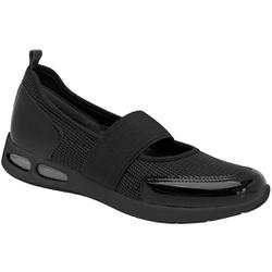 Tênis Boneca c/ Amortecedor Gel para Esporão e Fascite - Preto - PI979020PT - Pé Relax Sapatos Confortáveis