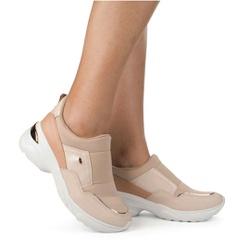 Tênis Confortável e Super Leve - Aveia - DAG2482AV - Pé Relax Sapatos Confortáveis