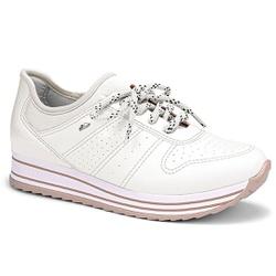 Tênis Feminino Confortável - Branco - DAG2991-006BR - Pé Relax Sapatos Confortáveis