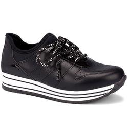 Tênis Feminino Confortável - Preto - DAG2991-0004PT - Pé Relax Sapatos Confortáveis