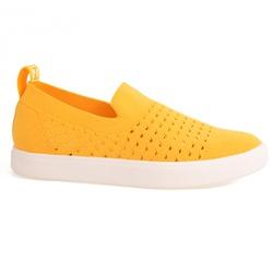 Slip On Feminino em Tecido Knit - Amarelo - MJ8440-05694AM - Pé Relax Sapatos Confortáveis