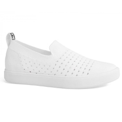 Slip On Feminino em Tecido Knit - Branco - MJ8440-05695BR - Pé Relax Sapatos Confortáveis