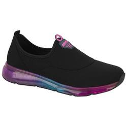 Tênis para Joanete e Esporão c/ Cápsula de Ar - Preto / Sola Colors - ACT4215-604PTCO - Pé Relax Sapatos Confortáveis