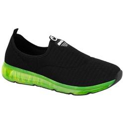 Tênis para Joanete e Esporão c/ Cápsula de Ar - Preto / Sola Verde - ACT4215-404PV - Pé Relax Sapatos Confortáveis