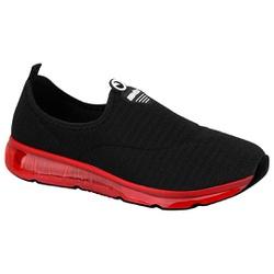 Tênis para Joanete e Esporão c/ Cápsula de Ar - Preto / Sola Vermelha - ACT4215-404PVM - Pé Relax Sapatos Confortáveis
