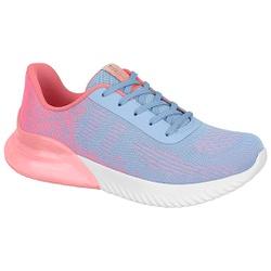 Tênis para Caminhada, Esporão e Fascite Plantar c/ Cápsula de Ar - Rosa / Azul - ACT4809-101ROAZ - Pé Relax Sapatos Confortáveis