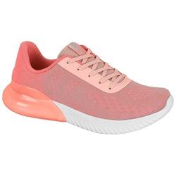 Tênis para Caminhada, Esporão e Fascite Plantar c/ Cápsula de Ar - Rosa - ACT4809-101RO - Pé Relax Sapatos Confortáveis