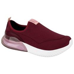Tênis para Esporão, Fascite e Joanete c/ Cápsula de Ar - Vinho - ACT4809-100VI - Pé Relax Sapatos Confortáveis
