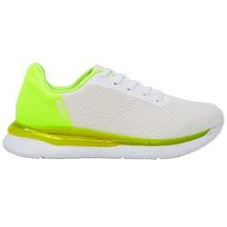 Tênis para Caminhada, Esporão e Fascite Plantar - Branco / Verde - ACT4820-100BRVD - Pé Relax Sapatos Confortáveis
