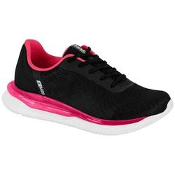 Tênis para Caminhada, Esporão e Fascite Plantar - Preto / Rosa - ACT4820-101PT - Pé Relax Sapatos Confortáveis