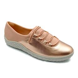 Tênis Feminino Confortável para Fascite e Esporão - Rose - PR421028RO - Pé Relax Sapatos Confortáveis