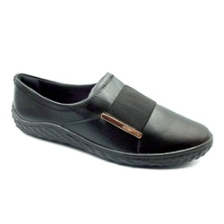Tênis Feminino Confortável para Esporão - Preto - PR421055PR - Pé Relax Sapatos Confortáveis