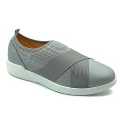 Tênis Feminino Confortável para Fascite Plantar - Cinza - PR633017CZ - Pé Relax Sapatos Confortáveis