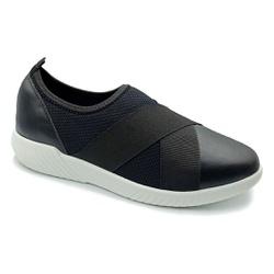 Tênis Feminino Confortável para Fascite Plantar - Preto - PR633017PR - Pé Relax Sapatos Confortáveis