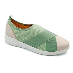 Tênis Feminino Confortável para Fascite Plantar - Verde - PR633017VE - Pé Relax Sapatos Confortáveis
