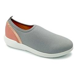 Tênis Feminino Confortável para Esporão de Calcâneo - Cinza - PR633018CI - Pé Relax Sapatos Confortáveis